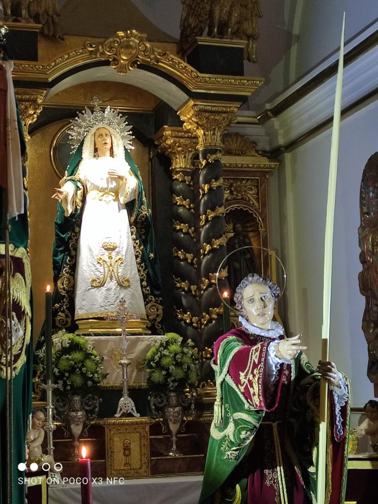 GALERIA FOTOGRÁFICA ACTO VENERACIÓN A MARÍA SANTÍSIMA DEL AMPARO Y SAN JUAN APÓSTOL EVANGELISTA
